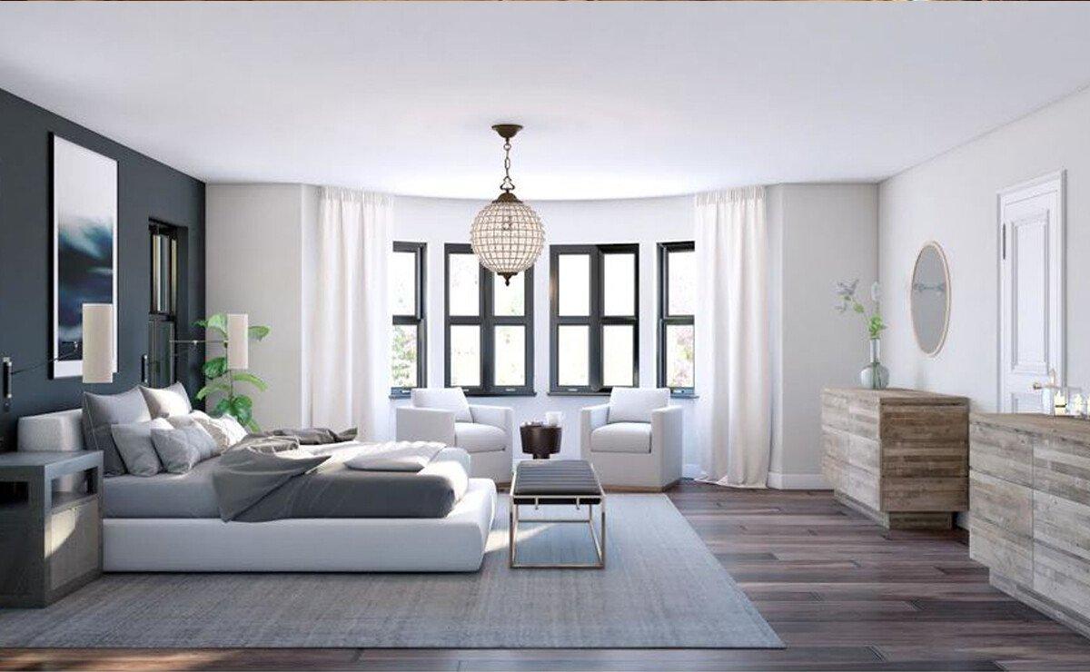 New Build Modern Home Design Rendering
