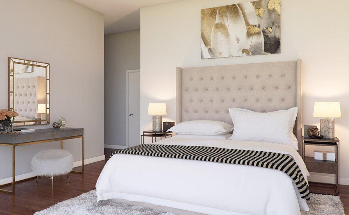 Sleek & Warm Apartment Design Rendering
