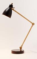 Online Designer Living Room Industrial Task Table Lamp - Black + Antique Brass