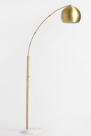Online Designer Hallway/Entry Brass Arc And White Marble Hayden Floor Lamp SKU# 547143