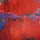 Online Designer Living Room Large Red Abstract Painting