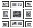 Online Designer Living Room Percy 9-Piece Frame Set, Black