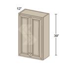 Online Designer Kitchen W4239 - Shaker II Maple Bright White Wall Cabinet (2 Door)