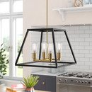 Online Designer Combined Living/Dining Sheredan 4-Light Square/Rectangle Chandelier