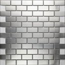 Online Designer Kitchen Stainless Steel Mosaic Tile 1x2