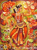 Online Designer Home/Small Office Indian classical dance painting