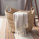 Online Designer Living Room Theroux Tall Water Hyacinth Wicker Basket with Handles