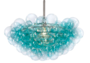 Online Designer Living Room Bubbles Chandelier, Aqua/Clear