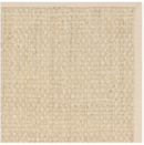 Online Designer Living Room Safavieh Casual Natural Fiber Natural and Beige Border Seagrass Rug