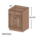 Online Designer Kitchen   B30 - Shaker II Maple Naval Base Cabinet ( 2 Butt Door, 1 Drawer)