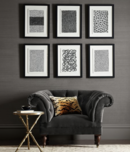 Online Designer Living Room Paco Vila Guillen: Black & White Graphic Sketch