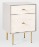 Online Designer Bedroom Modernist Wood + Lacquer Nightstand - Winter Wood