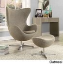 Online Designer Home/Small Office Glove Wool 2-piece Lounge Chair and Ottoman Set