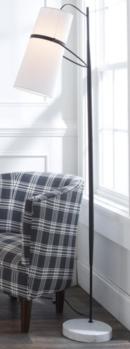 Online Designer Living Room BANDED CYLINDER SHADE FLOOR LAMP