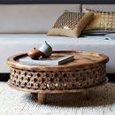 Online Designer Living Room Carved Wood Coffee Table
