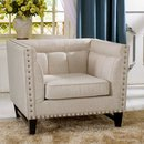 Online Designer Combined Living/Dining Baxton Studio Stapleton Beige Linen Modern Accent Chair