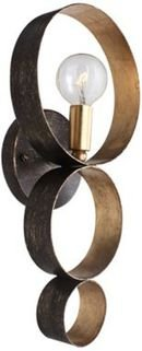 Online Designer Combined Living/Dining Crystorama Luna Bronze and Gold 14 3/4-Inch-H Sconce