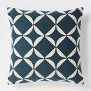 Online Designer Living Room Crewel Circlet Pillow Cover – Blue Lagoon