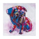 Online Designer Bedroom Bold Puppy Oversized Oil Painting Print on Canvas