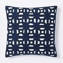 Online Designer Combined Living/Dining Modern Crewel Lattice Pillow Cover - Nightshade