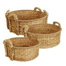 Online Designer Living Room 3 Piece Round Home Decor Basket Set
