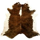 Online Designer Living Room Extra Large Brindle Brazilian Cowhide Brown & White Area Rug