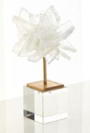 Online Designer Dining Room Small Selenite Blossom on Stand