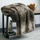 Online Designer Living Room Ombre Faux Fur Throw