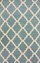 Online Designer Living Room Homespun Moroccan Trellis Spa Blue Rug