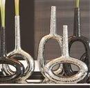 Online Designer Combined Living/Dining Global Views Keyhole Silver Vases