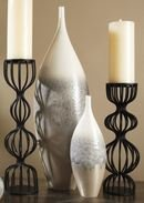 Online Designer Combined Living/Dining Global Views Cream Rises Vase small