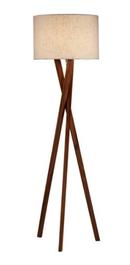 Online Designer Combined Living/Dining Brooklyn Floor Lamp, Walnut
