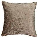 Online Designer Living Room Brown Sandrine Faux Velvet Throw Pillow (20x20