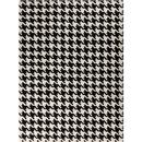 Online Designer Combined Living/Dining Black White Pattern Rug