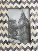 Online Designer Living Room Gray Chevron Bone London Frame