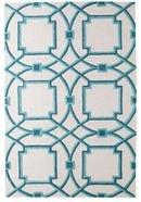 Online Designer Living Room Global Views Arabesque Aqua rug