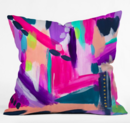 Online Designer Living Room Tulip Abstract Throw Pillow