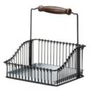Online Designer Living Room Ikea Steel Wire Basket with Handle 102.381.48, 7.75-inch, Black