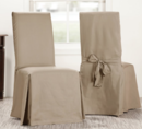 Online Designer Living Room Solid Cotton Dining Chair Slipcover