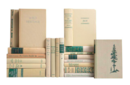 Online Designer Combined Living/Dining Tan & Green MiD-Century Book Mix - Set of 20