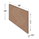 Online Designer Kitchen FP9648-SG - Shaker II Maple Naval Finished Panel Skin