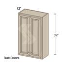 Online Designer Kitchen W2439 - Shaker II Maple Bright White Wall Cabinet (2 Butt Door)