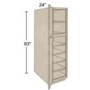 Online Designer Kitchen   UT182493 - Shaker II Maple Bright White Pantry Utility Cabinet (2 Door)