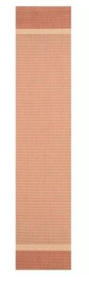 Online Designer Patio Linden Texture Beige/Terracotta Indoor/Outdoor Area Rug