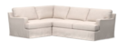 Online Designer Combined Living/Dining TOWNSEND SQUARE ARM SLIPCOVERED 3-PIECE CORNER SECTIONAL