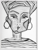 Online Designer Living Room lady gray LIMITED EDITION ART  by Juniper Briggs