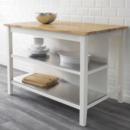 Online Designer Business/Office Stenstorp Kitchen Island in white with oak top.