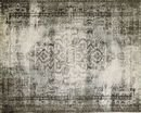 Online Designer Combined Living/Dining Distressed Arabesque Wool Rug - Steel