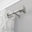 Online Designer Combined Living/Dining Square Finial Single Curtain Rod and Hardware Set