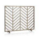 Online Designer Living Room Chevron Brass Fireplace Screen